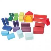 Smartcraft Wooden Block Set (Set of 30) , Wooden Non-Toxic Building Blocks for Kids