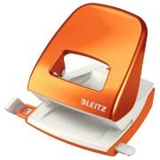 Perforator metalic Leitz 5008, 30 coli, portocaliu metalizat