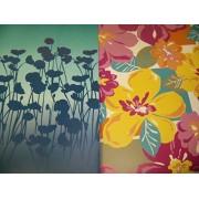 Staples Two Pocket Poly Folder ~ Set Of 2 Flower Power (Flower Shadows, Flowers)