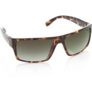 United Colors of Benetton Rectangular Sunglasses(Brown, Green)
