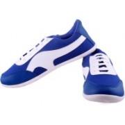 Shoe Striker White&Blue Designer Canvas Shoes For Men(Blue)
