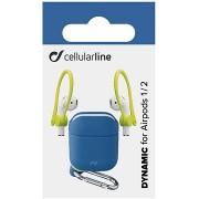 Cellularline Dynamic tok fülkampókkal Apple AirPods 1 & 2 fülhallgatóhoz - kék