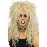 Vegaoo Blond pudelrockare - Peruk för vuxna One-Size