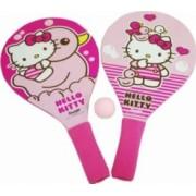 Set 2 palete pentru plaja Saica Hello Kitty din lemn cu minge inclusa pentru cop