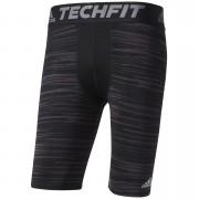 adidas Men's TechFit Base GFX Compression Shorts - Black - S - Black