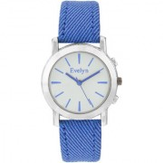 Evelyn Analogue White Dial Blue Strap Girls Watches-Eve-568