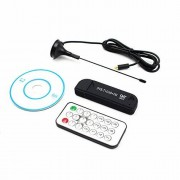 RONSHIN Electronics USB2.0 FM Dab DVB-T RTL2832U R820T2 RTL-SDR SDR Dongle Stick Digital TV sintonizador Remoto Receptor infrarrojo con Antena Negro