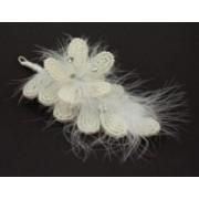 Svatební bižuterie do vlasů perličky s peříčky 5468-1 5468-1