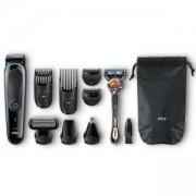 Комплект Braun MGK3080 9 в 1, Тример за лице, коса и тяло + самобръсначка Gillette