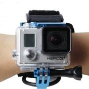 Maxy Fascia Da Polso Hr177 Professional Con Supporto Per Action Cam Per Gopro Hd Hero - Nylox Blu