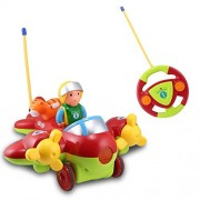 RC Cartoon Airplane with 3 buttons music and light, Remote Control Plane Toy Gift for Toddlers and Kids by Midea...