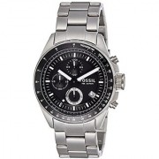 Fossil Decker Chronograph Analog Black Dial Mens Watch - CH2600IE