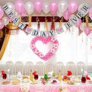Electroprime® Romantic Best Day Ever Bunting Banner Hanging Sign Wedding Pageant Decor