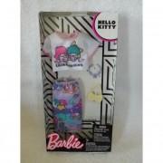 Barbie ruha szettek karakterekkel - Hello Kitty fehér póló szivárványos szoknya