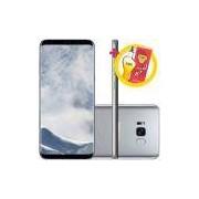 "Smartphone Samsung Galaxy S8+ Prata - Claro Dual Chip Android 7.0 Tela 6.2"" 64Gb Câmera 12Mp + Perfume Olinda L'Occitane - 100Ml"