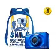 Nikon Cámara Compacta NIKON Coolpix W100 (Azul - 13.2 MP - ISO: 125 a 1600 - Zoom Óptico: 3x)