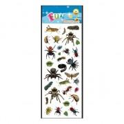 Merkloos Spinnen en insecten stickervelletje agenda