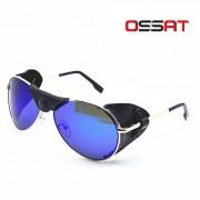 OSSAT Montanismo Driving Polarized Sunglasses - Oro + Azul REVO