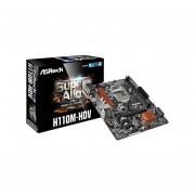 T. Madre Asrock H110M-HDV, ChipSet Intel H110, Soporta, Intel Core I7/Core I5/Core I3/Pentium/Celeron De Socket 1151, Memoria, DDR4 2133 MHz, 32GB Max, SATA 3.0, USB 3.0, Integrado, Audio HD, Red Gigabit, Micro-ATX.