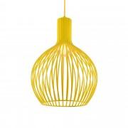 [lux.pro]® Lámpara colgante moderna color mostaza diseño industrial - metal - pantalla (Al x An): 49 x 36,5 cm aprox.