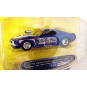 """Dub City Big Time Muscle / 70 Ford Mustang Boss 429 """"Super Boss"""" / Blue And White / Wave 13 / 1:64 Scale Die Cast Collectible / Jada Toys 2007"""