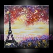 1 Quadro Arte Moderna Dipinto a Mano Paris