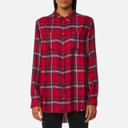 Superdry Women's Supersized Shirt - Red/Blue/White Check - XS - Multi