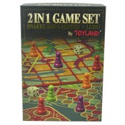 Toyland 2 in 1 Family Board Game Set - Snakes & Ladders and Ludo Traditional Games