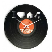 Disc'O'Clock Orologio Da Parete I Love House Music