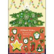 adventskalender A4+ met stickers - kerstboom