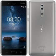 Nokia 8 Dual SIM – 64 GB – staal Grijs (Stainless)