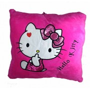 A-Mart Soft Toy Pillow high Quality Hello Kitty Dark Pink 2 for Kids Girls 13 x 13 inch