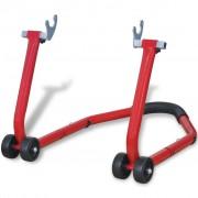 vidaXL Задна стойка за мотоциклети, червена