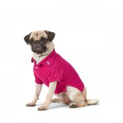 Ralph Lauren Pet Cotton Mesh Dog Polo Shirt - Aruba Pink - Size: Medium