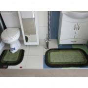 Set prostirki za kupatilo M-01 Primo zelene