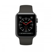 Smartwatch Apple Watch 3 GPS, 42mm Space Grey si bratara sport Grey