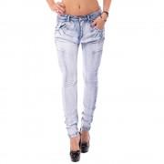 V&V Dámské světlemodré jeans s nabíráním (28) - V&V
