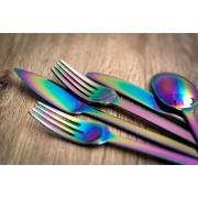 Комплект прибори за хранене HERDMAR SPIGA с PVD покритие Rainbow (дъга) - 36 части