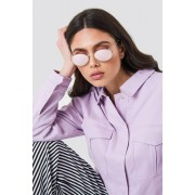 NA-KD Urban Oval Metal Sunglasses - Solglasögon - Purple