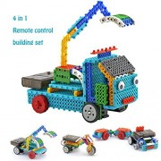 Remote Control Building Kits For Kids Rc Construction Set W/ 117 Pcs Building Blocks Build Your Own Remote Control Car