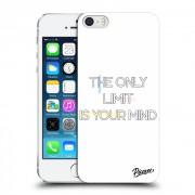 Műanyag átlátszó tok az alábbi mobiltelefonokra Apple iPhone 5/5S/SE - The only limit is your mind