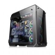 Кутия Thermaltake View 71 Tempered Glass RGB Edition, E/ATX/mATX/miniITX, 2x USB 3.0, с 4x прозореца от темперирано стъкло, черна, без захранване, 140мм Riing Plus RGB вентилатори