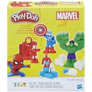 Set de Masas Moldeables Super Herramientas Marvel Play-Doh-Multicolor