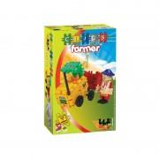Set de constructie Fermier Clics Toys, 44 piese, figurina inclusa