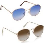 deixels Oval, Oval Sunglasses(Blue, Multicolor)