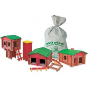 Deluxe Wood-Links FARM Building Set 3 BUILDINGS