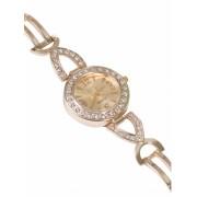 Дамски часовник с метална верижка - златист