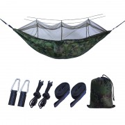 Outdoor Travel Camping Tent Swing Bed Mosquito Net Hanging Hammock - Camouflage