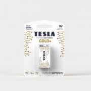 TESLA BATTERIES a.s. Alkalická baterie Tesla GOLD+ 9 V, blistr 1 ks