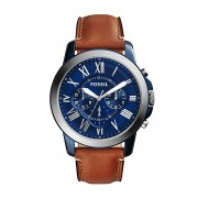 Часовник FOSSIL - Grant FS5151 Light Brown/Blue